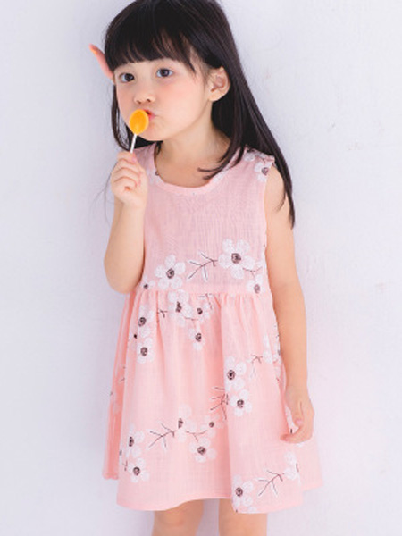 新线童装品牌2019春夏新款韩版时尚无袖连衣裙公主裙