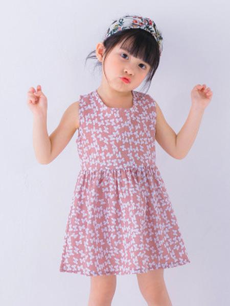 新线童装品牌2019春夏新款无袖韩版棉麻公主裙连衣裙