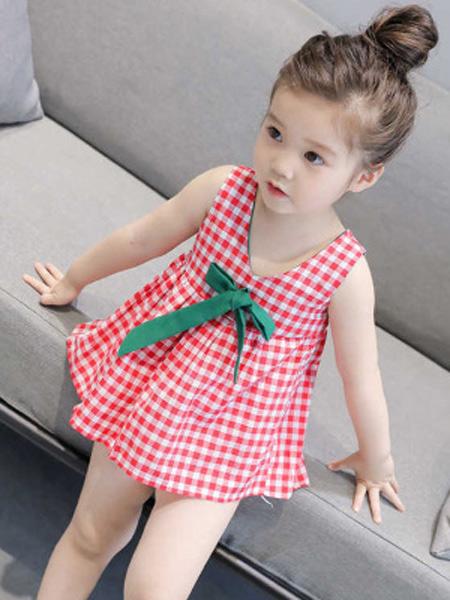 新线童装品牌2019春夏新款韩版时尚吊带连衣裙