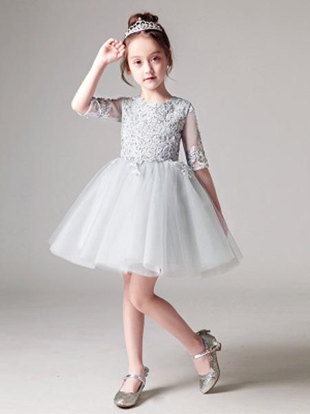 风声梦童装品牌2019春夏新款韩版时尚洋气公主裙礼服裙