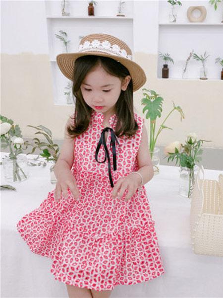 琪炫童装品牌2019春夏新款时尚镂空无袖背心裙