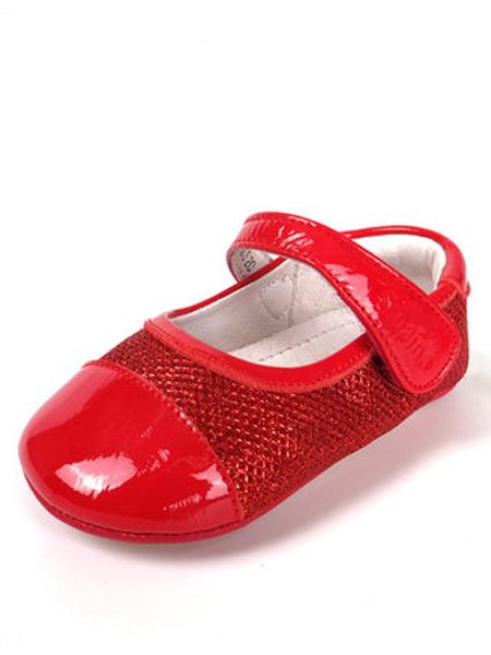 斯乃纳童鞋品牌2019春夏新款儿童女鞋婴儿学步魔术贴公主