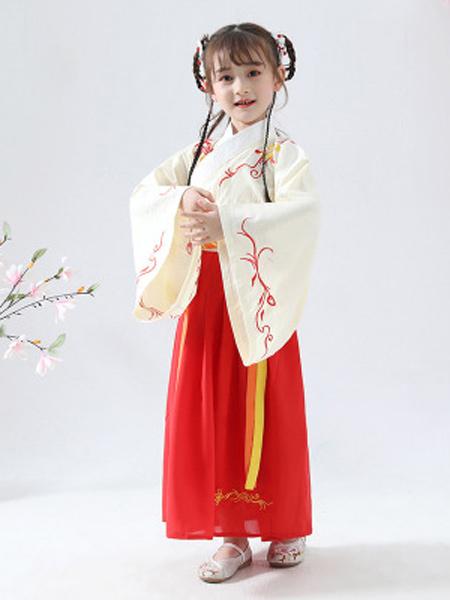 汉髫童装品牌2019春夏新款中国风小女孩儿童宝宝汉元素超仙女童汉服襦裙连衣裙