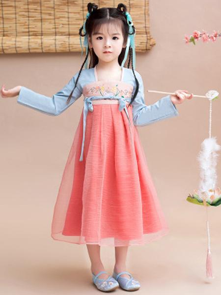 汉髫童装品牌2019春夏新款宝宝汉服襦裙中国风超仙改良汉服连衣裙