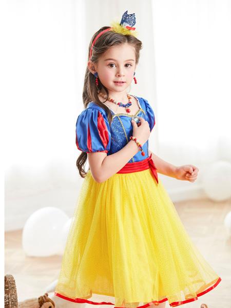 梦幻派对童装品牌2019春夏白雪公主裙夏季短袖连衣裙女孩生日儿童