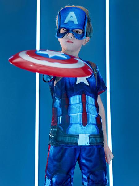 梦幻派对童装品牌2019春夏复仇者联盟3男童衣服短袖T��儿童演出服美国队长钢铁侠