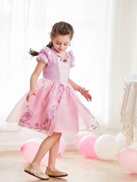 梦幻派对童装品牌2019春夏发乐佩公主裙夏季短袖女童连衣裙
