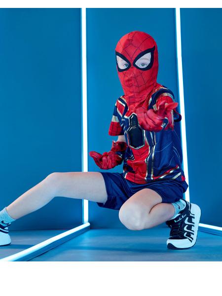 漫威复联英雄装扮服蜘蛛侠cosplayT恤短裤套装