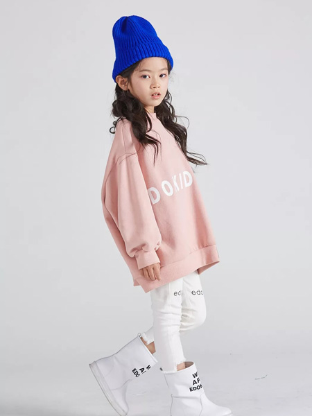 edo KIDS一度童装品牌2019秋季宽松廓形套头卫衣