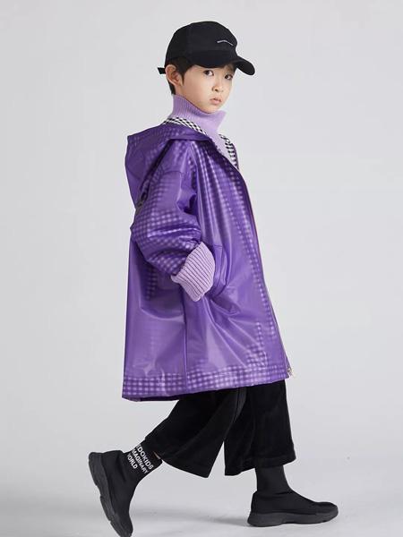 edo KIDS一度童装品牌2019秋季紫色长外套