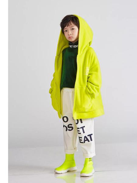 edo KIDS一度童装品牌2019秋季绿色套天外套