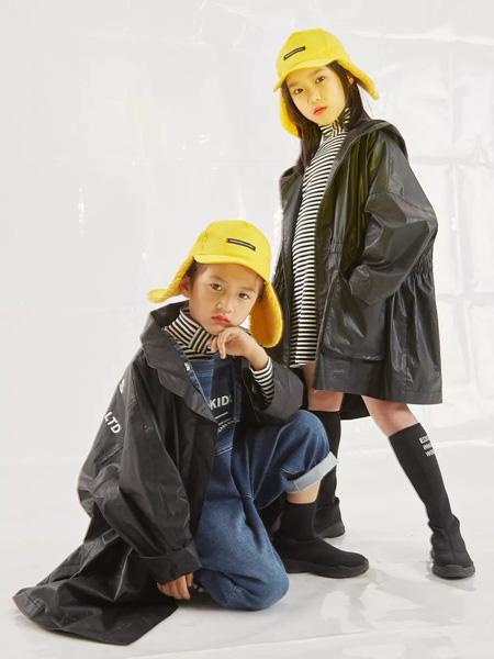edo KIDS一度童装品牌2019秋季纯色黑色外套