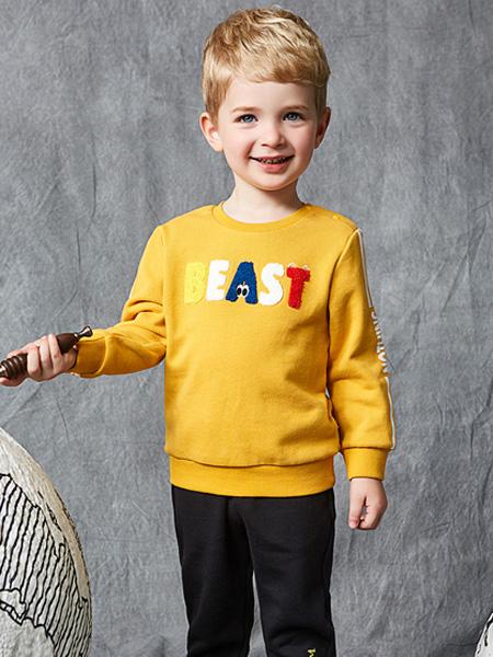 红蜻蜓KIDS童装品牌2019秋季卫衣纯棉儿童上衣