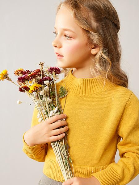 红蜻蜓KIDS童装品牌2019秋季韩版百搭修身打底衫半高领针织衫