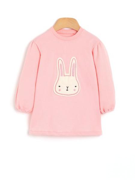 ozkiz童装品牌2019秋冬小兔子纯棉毛圈卫衣上衣