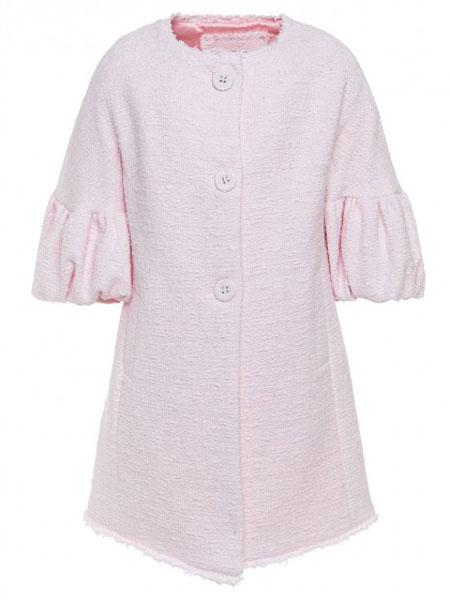 Monnalisa童装品牌2019春夏新款时尚简约休闲喇叭半袖薄款外套