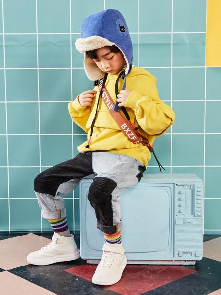 小资范童装品牌2019秋冬新款洋气潮衣韩版时髦时尚两件套套装