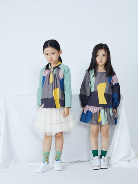 籽芽之家童装品牌2019秋冬新款贴布绣花韩版中长款复古连衣裙