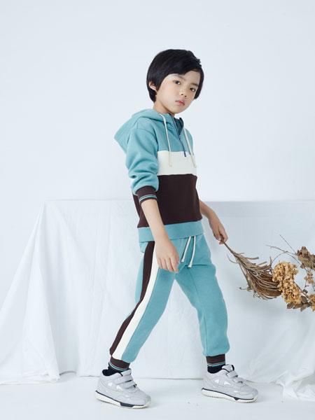 籽芽之家童装品牌2019秋冬新款运动短袖套装健身瑜伽服两件套