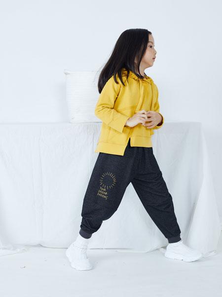 籽芽之家童装品牌2019秋冬个性新颖纯色基础时尚休闲束脚长裤
