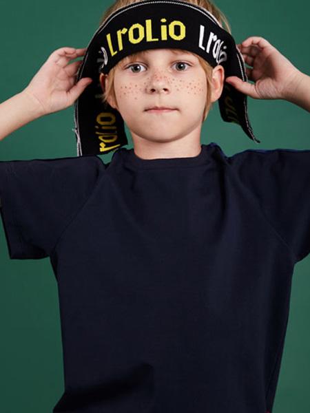 LROLIO童装品牌2019春夏黑色短袖T恤