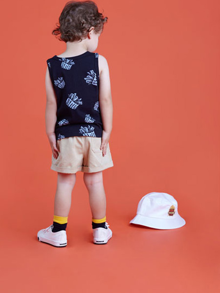 LROLIO童装品牌2019春夏薯条印花T恤