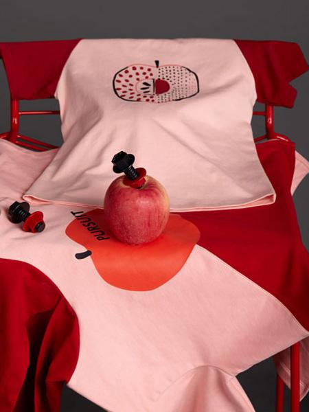 LROLIO童装品牌2019春夏苹果印花短袖T恤