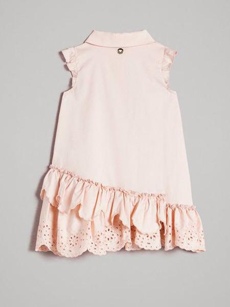 Twin-set童装品牌2019春夏木耳下摆连衣裙