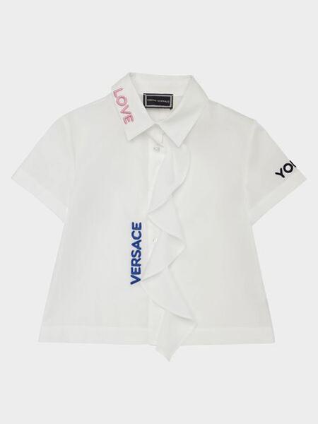 范思哲童装品牌2019春夏纯色印花衬衫
