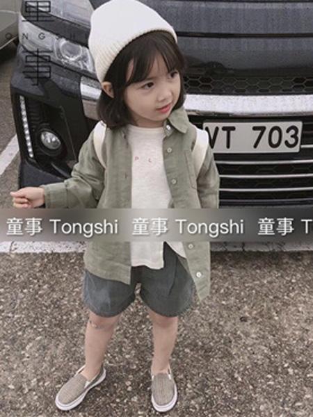 童事童装品牌2019春夏工装时尚衬衫
