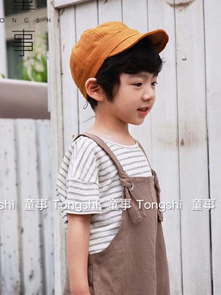 童事童装品牌2019春夏条纹短袖T恤