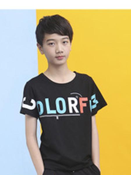 中童旺童装品牌2019春夏印花潮T恤