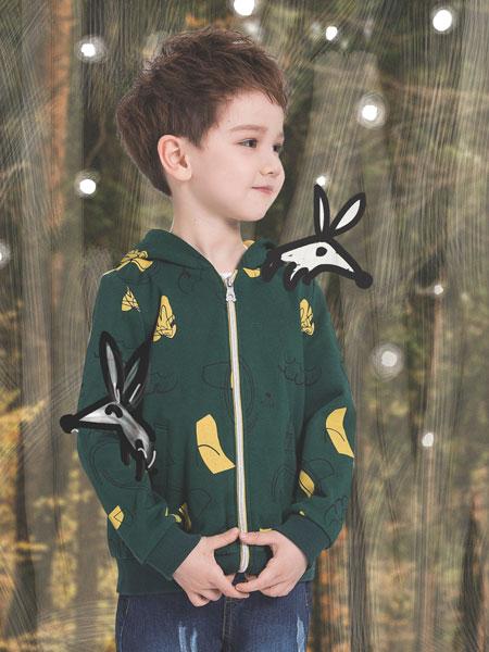 水孩儿souhait童装品牌2019秋冬儿童夹克梭织卡通棒球休闲男童外套