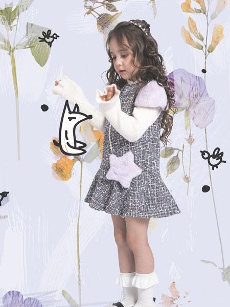 水孩儿souhait童装品牌2019秋冬女童连衣裙儿童吊带背心裙洋气潮针织