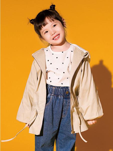 快乐精灵童装品牌2019秋冬新款韩版洋气时尚中长款外套