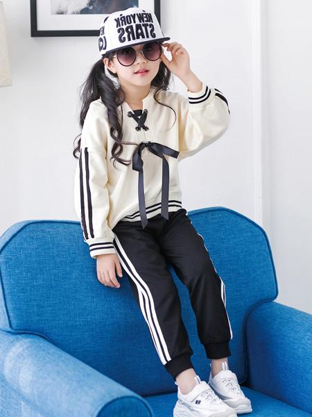 快乐精灵童装品牌2019秋冬新款韩版卫衣裤休闲两件套潮