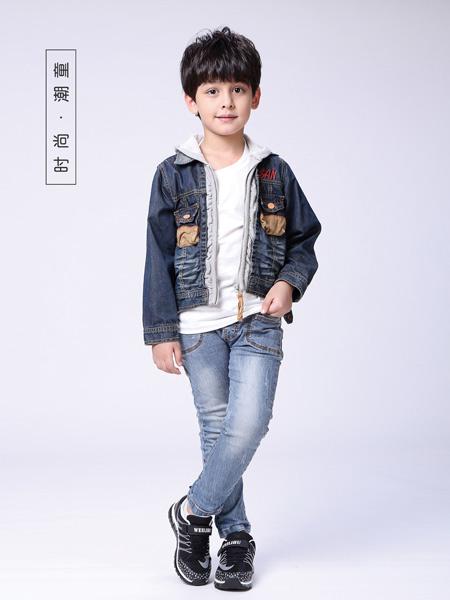 快乐精灵童装品牌2019秋冬新款韩版休闲百搭牛仔外套