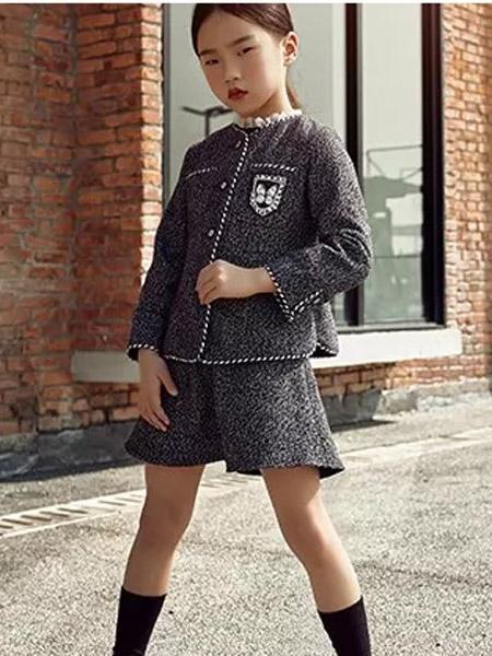 米熙朵童装品牌2019秋冬新款时尚修身显瘦套裙