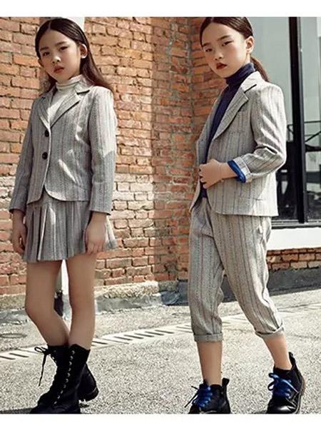 米熙朵童装品牌2019秋冬新款韩版时尚休闲小西装套装
