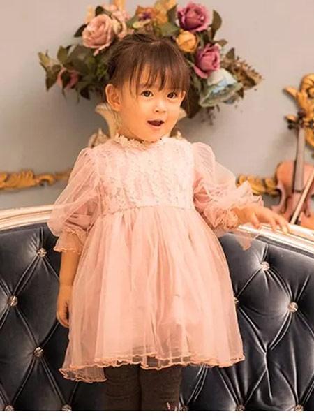 萌度童装品牌2019秋季新款韩版时尚洋气公主裙连衣裙