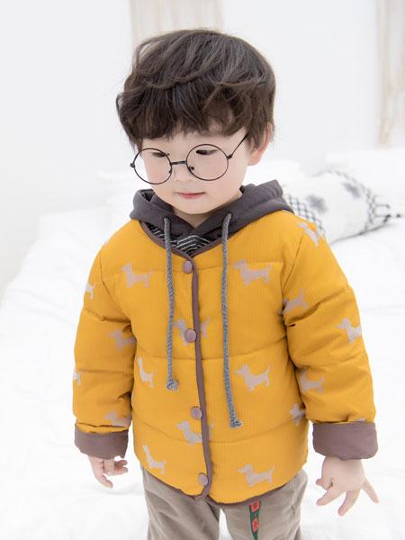 波波龙童装品牌2019秋冬儿童羽绒棉服中小童加厚棉外套