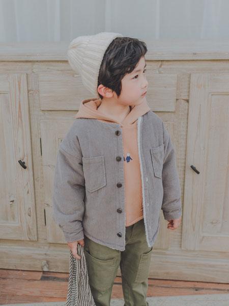 波波龙童装品牌2019秋冬儿童上衣夹棉加厚外套棉服
