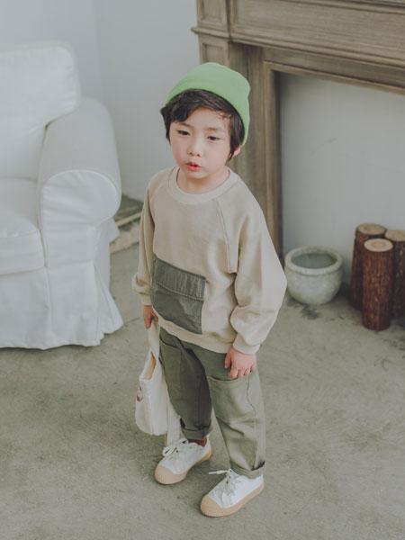 波波龙童装品牌2019秋冬新款套头儿童长袖卫衣中大童