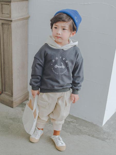 波波龙童装品牌2019秋冬韩版儿童卡通丝绒运动服