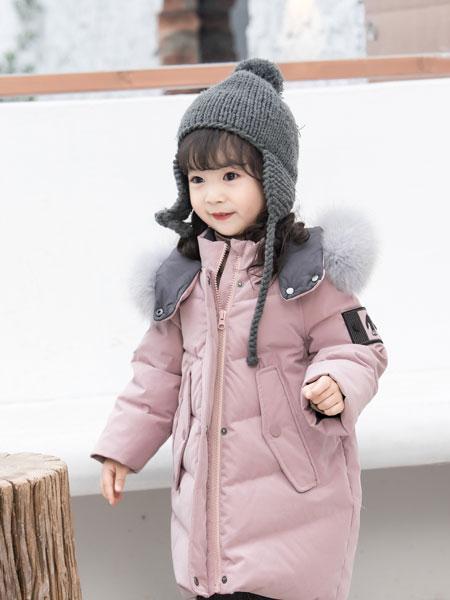 波波龙童装品牌2019秋冬新款韩版加厚中长款棉服中大童