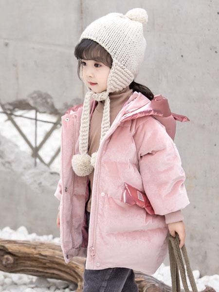 波波龙童装品牌2019秋冬卡通时尚棉服保暖上衣外套