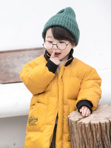 波波龙童装品牌2019秋冬轻薄中长款儿童羽绒服上衣