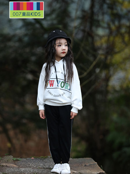 007童品童装品牌2019秋冬中长套头宽松外套休闲长袖