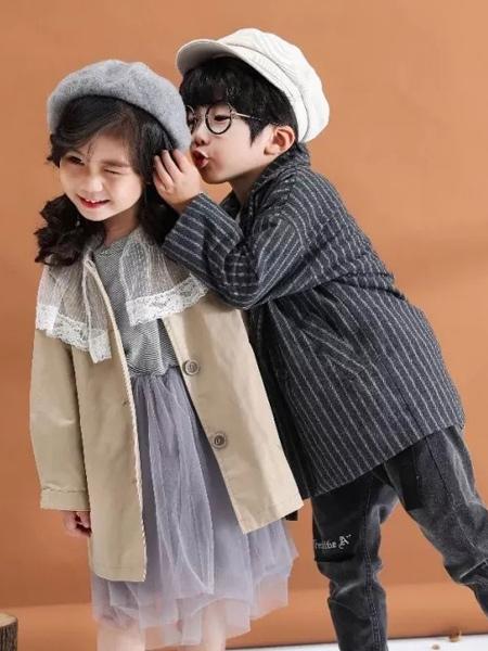 兔子杰罗童装品牌2019秋季新款韩版洋气时尚风衣外套