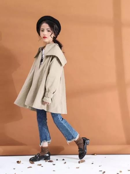 兔子杰罗童装品牌2019秋季新款韩版时尚中长款风衣外套